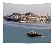 Views From Corfu Greece Tapestry