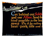 Wwi Food Supply, 1917 Tapestry