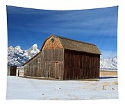 A Barn With A View Tapestry