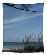 A Beautiful Day At A Florida Beach Tapestry