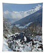 A Beautiful Winterday - Austrian Alps Tapestry