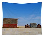 A Big Barn And Three Small Ones Tapestry