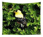 A Bird In The Bush Tapestry