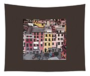 A Bird's Eye View Of Cinque Terre Tapestry