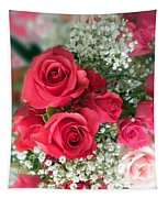 A Bouquet Of Roses For You Tapestry