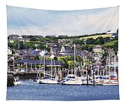 A Busy Harbour And Waterfrontkinsale Tapestry