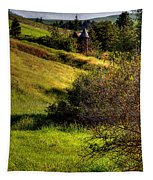 A Castle In The Landscape Tapestry