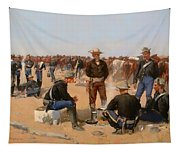 A Cavalryman's Breakfast Tapestry