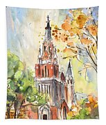 A Church In Our Street In Budapest Tapestry