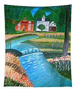 A Country Stream Tapestry