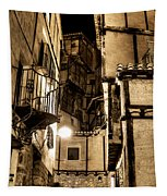 A Couple In A Little Restaurant In The Ancient City Of Albarracin Tapestry