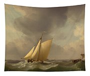 A Cutter In A Strong Breeze Tapestry
