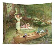 A Day On The River Tapestry