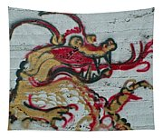 A Dragon On My Wall Tapestry