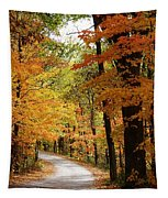 A Drive Through The Woods Tapestry