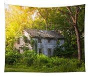 A Fading Memory One Summer Morning - Abandoned House In The Woods Tapestry
