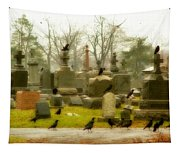 A Fall Gathering Of Crows Tapestry