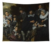 A Family Group In A Landscape Tapestry