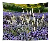 A Field Of Lavender Tapestry