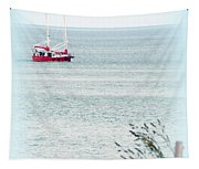 A Fine Day For A Red Boat Tapestry
