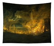 A Fire In The City Tapestry