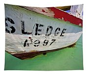 A Fishing Boat Named Sledge Tapestry