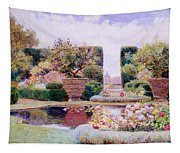 A Formal Garden In Rome Tapestry