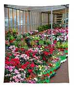 A French Flower Market Tapestry