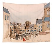 A French Market Place Tapestry