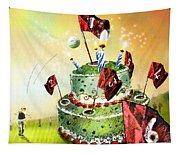 A Golfers Birthday Cake Tapestry