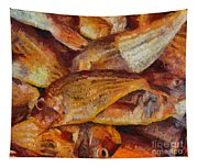 A Good Catch Of Fish Tapestry