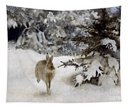 A Hare In The Snow Tapestry