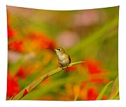A Humming Bird Perched Tapestry