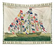 A King S Ship Dressed With The Colours Of Different Nations 6th October 1794 Tapestry