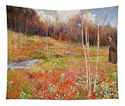 A Landscape In Spring With A Nun Tapestry