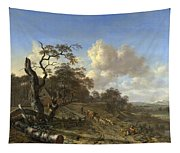 A Landscape With A Dead Tree Tapestry