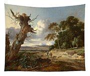 A Landscape With Two Dead Trees Tapestry