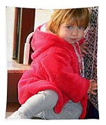 A Little Girl In Red Tapestry