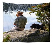 A Man And His Dog Tapestry