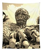 A Maze Ing Man 6 Sepia Tapestry