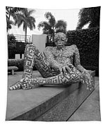 A Maze Ing Man Black And White Tapestry