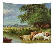 A Midsummer's Day On The Thames  Tapestry