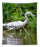 A Minor Blue Heron Tapestry by Gary Keesler