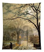 A Moonlit Stroll Bonchurch Isle Of Wight Tapestry