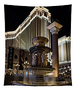 A Night At The Venetian Las Vegas Tapestry