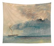 A Paddle-steamer In A Storm Tapestry