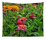 A Pair Of Yellow Zinnias 02 Tapestry