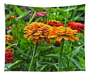 A Pair Of Yellow Zinnias 03 Tapestry