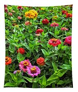 A Pair Of Yellow Zinnias 04 Tapestry