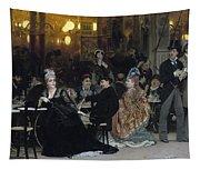 A Parisian Cafe Tapestry
